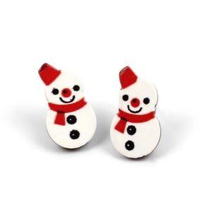 Snowmen Stud Earrings